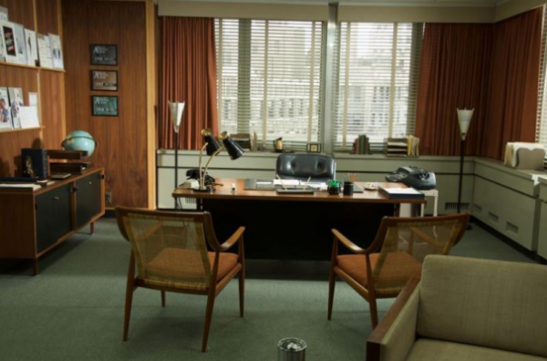 mad men, amc, mad men office, mad men charity