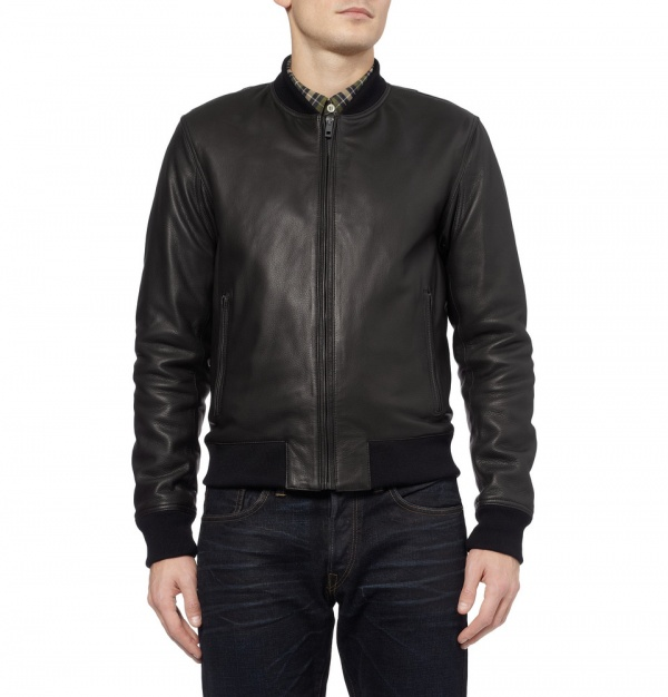 Rag & Bone Quilted Leather Bomber Jacket 2