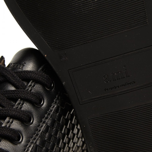 AMI Leather Woven Sneaker 2