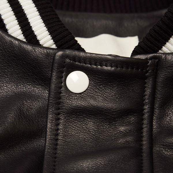 Band of Outsiders Leather Bomber Jacket 2