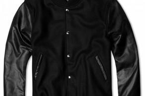MKI Black Leather Varsity Jacket